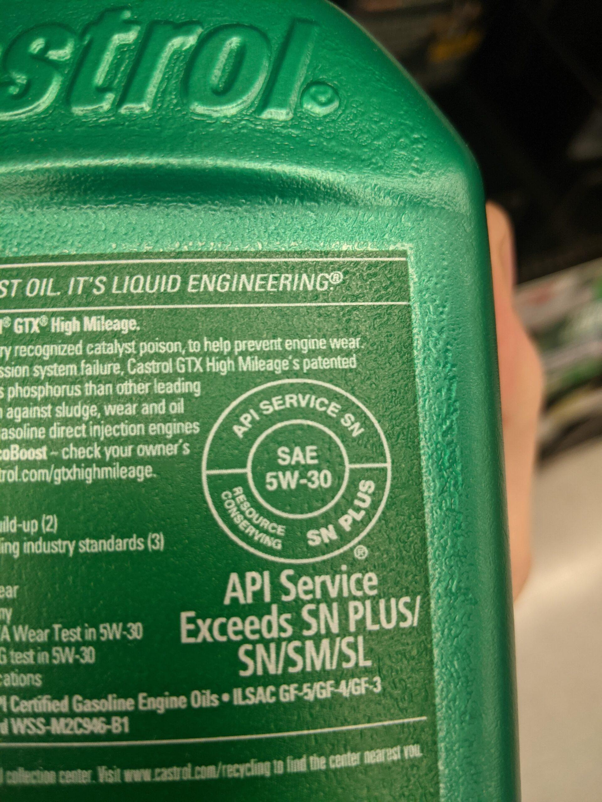 Best Motor Oil API Label 2